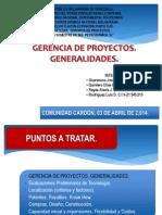 PRESENTACIÓN DE GERENCIA DE PROYECTOS. 1.0