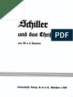 Cammer, W. v. d. - Schiller und das Christentum (1934)