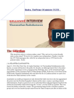 An Interview With Rudra,ThePrimeOf minister TGTE - Part1
