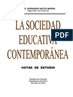 La sociedad educativa contemporánea