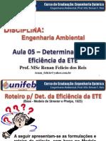 Aula 05 (Engenharia Ambiental) - Det. Eficiência ETE