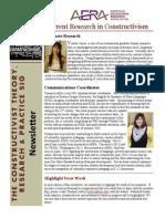 Constructivist SIG Newsletter December 2013