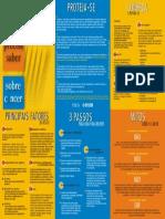O Que Voce Precisa Saber Sobre Cancer - Folder