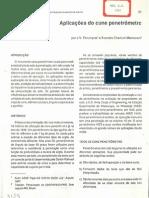 Artigo - Aplicações do cone penetrômetro