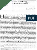 Chantal Mouffe- Feminismo, Ciudadania y Politica Democratica
