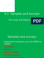 4-1 Samples and Surveys