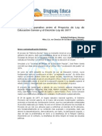 Artículo Análisis comparativo Proyecto de Ley de Educación Común y Decreto-ley de 1877