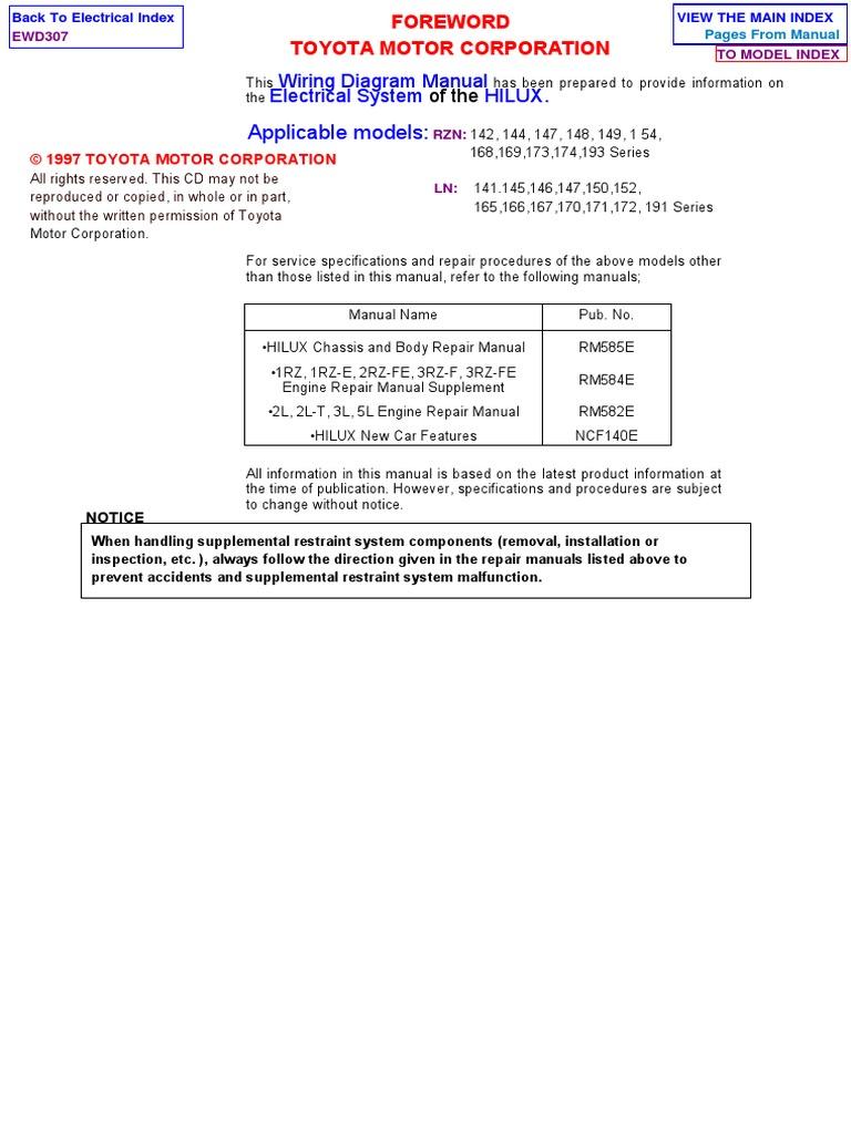 Hilux Elecrical Ewd307f Wiring Diagram