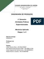 ATPS Mecânica Aplicada Etapa 1 e 2
