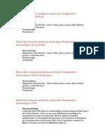 Bases das reações antígeno