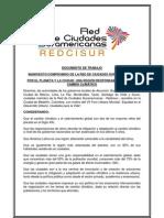 Manifiesto / Compromiso Cambio Climático