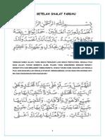 Doa Setelah Shalat Fardhu