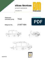 Bomba Horm TK 40 Seccion1 Datos Tecnicos