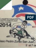 Resultados del Campeonato Centroamericano de Luchas Asociadas San Juan, Puerto Rico 2014 (Estilo Grecoromano ) Final Book GR