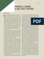 ENTREVISTA A JORDI CASANOVAS. L'AVENÇ. Pere Antoni Pons