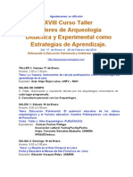 Talleres de Arqueologia Verano 2014