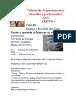 Talleres de Arqueología para docentes y profesionales 2014