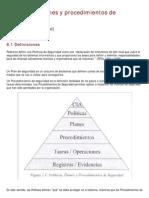Seguridad 6 Politicas Planes Procedimientos