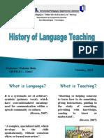 MEPILE I - Unit 1 History of Language Teaching