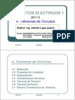 CIR1 C04 Teoremas de Circuitos