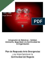 Integracion de Sistemas y La Continuidad de La Organizacion - Jorge Zamora