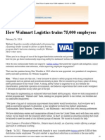 How Walmart Logistics Trains 75 000 Employees