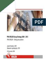Pkn Orlen Strategy 2009 2013 26nov08 Final