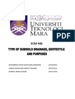 Subsoils Drainage and Geotextile