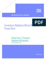 Connecting to WebSphere ESB and WebSphere Process Server