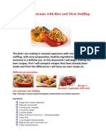 roasted capsicums with rice and meat stuffing 2