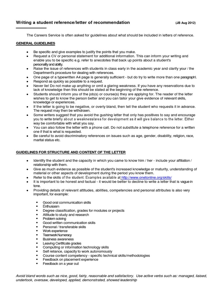 Structure Of A Letter Of Recommendation from imgv2-2-f.scribdassets.com