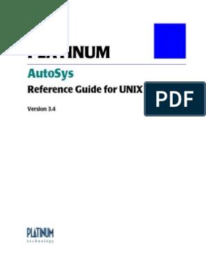 Autosys Tutorial Platinum | Command Line Interface | Computing