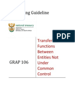 GRAP Guideline 106 - Transfer of Functions Between Entities Not Under Common Control