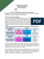 Práctica 13 Estabilidad en compuestos de cooordinación