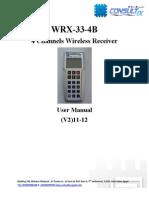 Consultix WRX-33 4ch User Manual V2 11-12