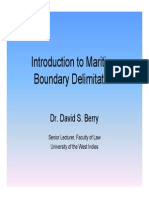 Dr Berry Introduction to Maritime Boundary Delimitation 2010