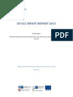 EU GCC Invest Report 2013