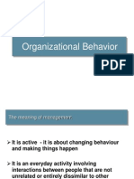 Organisational Behavior