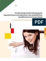 Broschuere Anerkennung Zugang Ingenieure