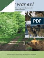 Identifikation og dokumentering af spor og byttedyr fra ulv og andre store rovdyr (tysk hæfte 2011)