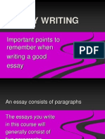 Essay Writing Important Points