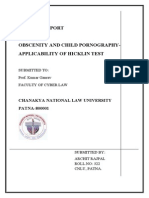 Obscenity and Child Pornography- Applicability of Hicklin Test