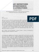 Literature Repertoire and Interference Among Literatures