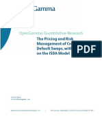 Pricing and Risk Mgmt of CDS With ISDA Model