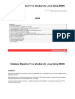 Migrate DB from windows to linux