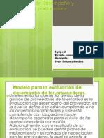 Parametros de Desempeño y Comerciales para evaluar Proveedores