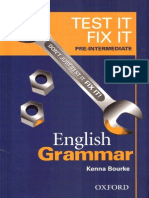 Test It Fix It - English Grammar - Pre-Intermediate