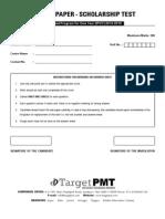 Sample Paper One Year Program