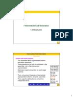 07 2 IntermediateCodeGen-Quadruples