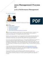 Performance Management Process Checklist